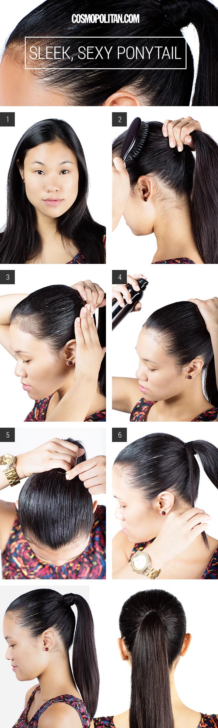 sleek sexy ponytail